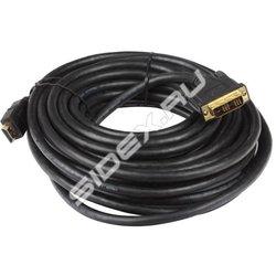 Кабель HDMI - DVI-D (19M -19M) (Telecom CG480G-5M) (черный) - HDMI кабель, переходникHDMI кабели и переходники<br>Разъемы HDMI - DVI-D, позолоченные контакты, длина 5м.