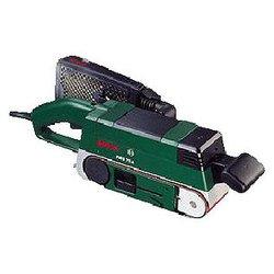 Bosch PBS 75 A - Ленточная шлифмашинаЛенточные шлифмашины<br>Bosch PBS 75 A - ленточная шлифмашина, мощность 710 Вт, скорость ленты до 300 м/мин, лента 533x75 мм, пылесборник, вес: 3.2 кг