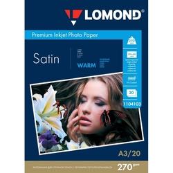 Фотобумага атласная А3 (20 листов) (Lomond 1104103) - БумагаОбычная, фотобумага, термобумага для принтеров<br>Фотобумага предназначена для печати изображений с максимальным разрешением.