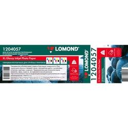 Фотобумага глянцевая (1067мм x 30м) (Lomond 1204057) - БумагаОбычная, фотобумага, термобумага для принтеров<br>Предназначена для широкоформатной печати водорастворимыми и пигментными чернилами.