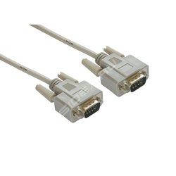 Кабель DB9(M) - DB9(M) 3м (Greenconnect GCR-DB902-3m) (серый) - Кабель, переходникКабели, шлейфы<br>Нуль-модемный кабель, длина 3 м, для подключения профессионального оборудования с интерфейсом RS-232, материал проводника бескислородная медь, 30 AWG.