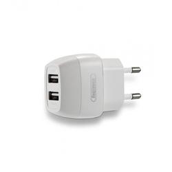 Универсальное сетевое зарядное устройство, адаптер 2хUSB, 2.1А (Remax Flinc Series RU-U29) (белый) - Сетевой адаптер 220v - USB, Прикуриватель