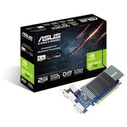 ASUS GeForce GT 710 954Mhz PCI-E 2.0 2048Mb 5012Mhz 64 bit DVI HDMI VGA HDCP (GT710-SL-2GD5) RTL - ВидеокартаВидеокарты<br>Видеокарта, GeForce GT 710, 954 МГц, PCI-E 2.0, 2048 Мб, 5012 МГц, 64 бит, DVI, HDMI, VGA.