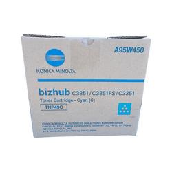 Тонер картридж для Konica Minolta bizhub C3351, C3851 (TNP-49C) (голубой) - Картридж для принтера, МФУКартриджи<br>Картридж совместим с моделями: Konica-Minolta bizhub C3351, C3851.