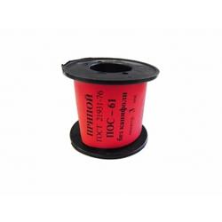 Припой катушка 100 г 3 мм (ПОС-61) - Паста, припойСопутствующие товары для пайки<br>Необходим для пайки деталей, которые не предусматривают значительных перегревов либо требуют высокой точности выполнения работы.