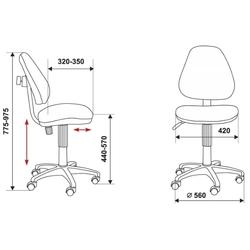 Кресло детское Бюрократ KD-4/GIRAFFE (оранжевый, рисунок жираф) - Стул офисный, компьютерныйКомпьютерные кресла<br>Детское кресло, эргономичная спинка, устойчивая крестовина, регулировка высоты, регулировка глубины сиденья, макс. вес 100 кг.